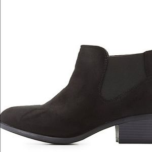 Shoes - Black booties lightly worn once